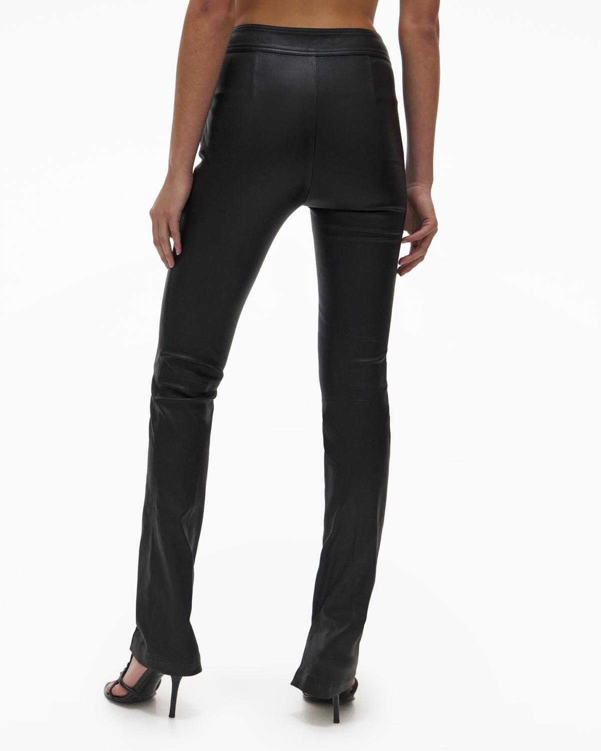 Slit Leather Pant