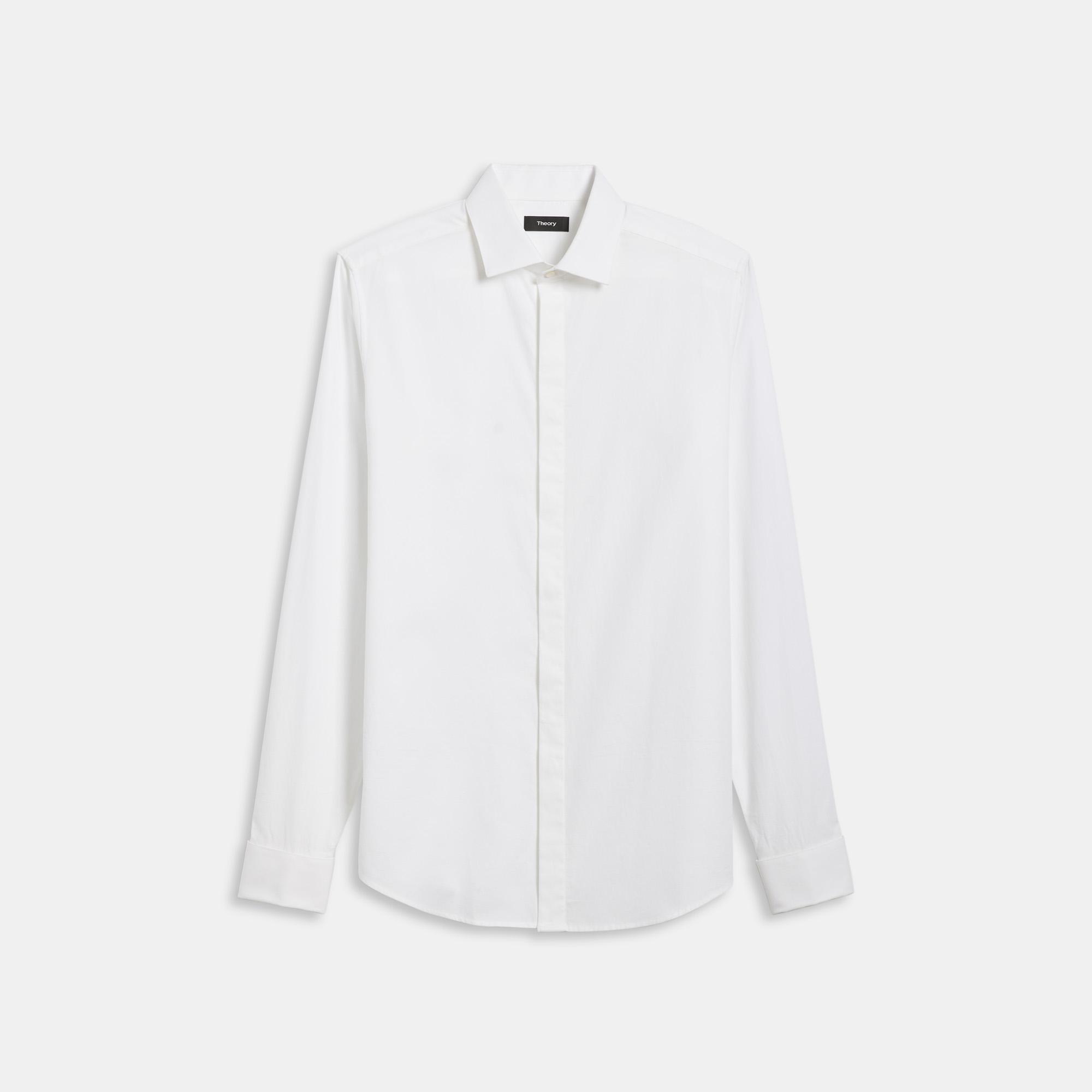 Theory Stretch Cotton Tuxedo Shirt