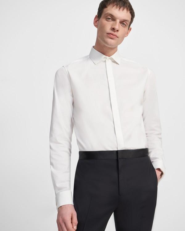 띠어리 맨 스트레치 코튼 턱시도 셔츠 - 화이트 Theory Stretch Cotton Tuxedo Shirt,WHITE