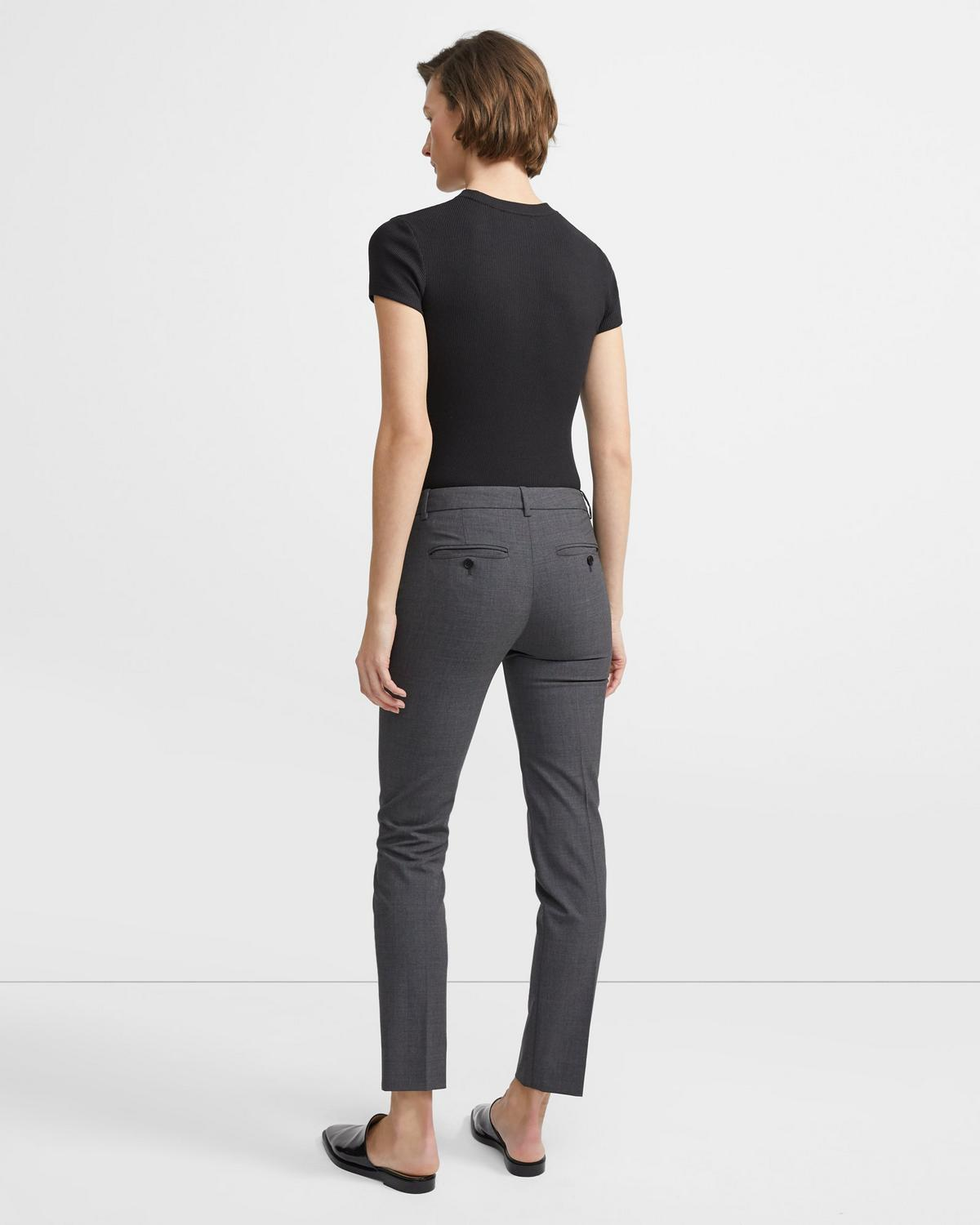 Classic Cropped Pant in Stretch Wool