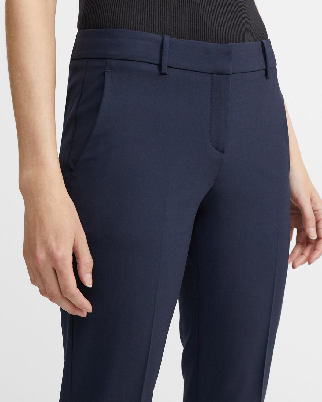 aa246ac85ed Theory Stretch Wool Classic Crop Pant   Theory.com