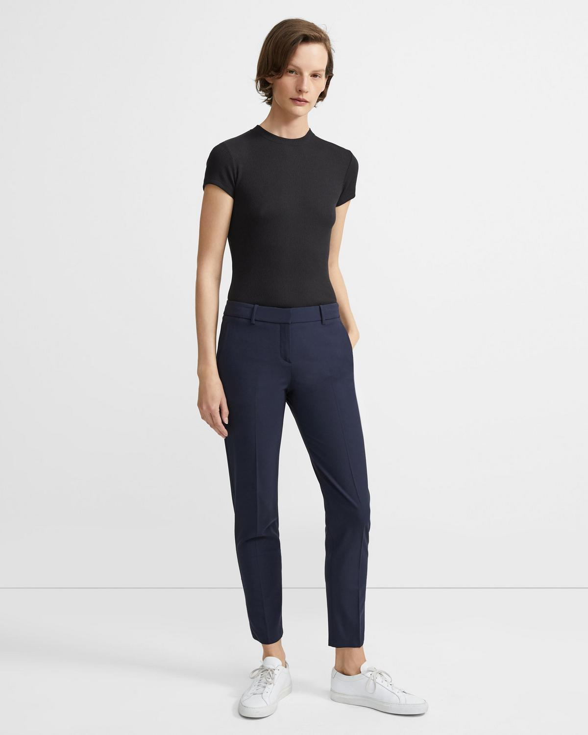 Stretch Wool Classic Crop Pant
