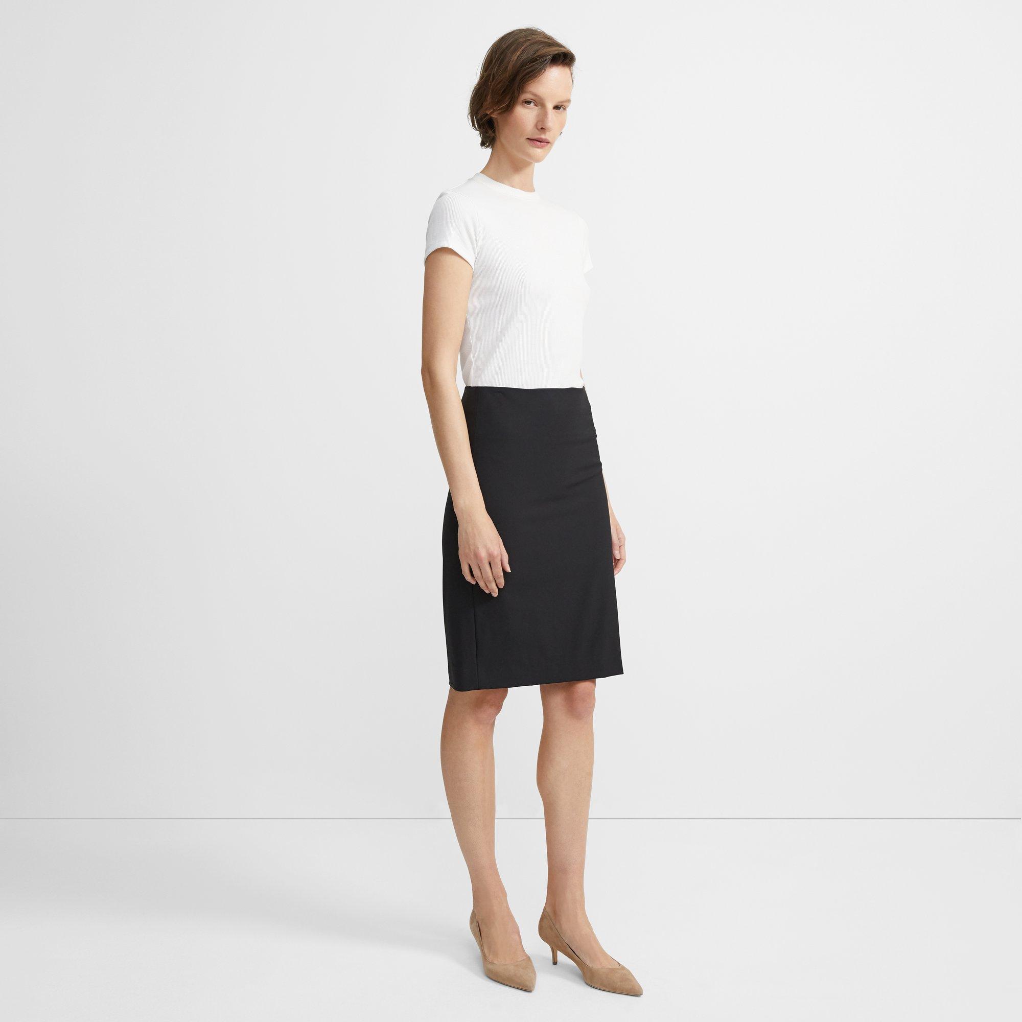 f12486d5a Theory Stretch Wool Pencil Skirt | Theory.com
