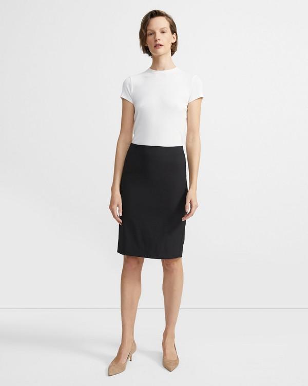 284e2f30e Stretch Wool Pencil Skirt
