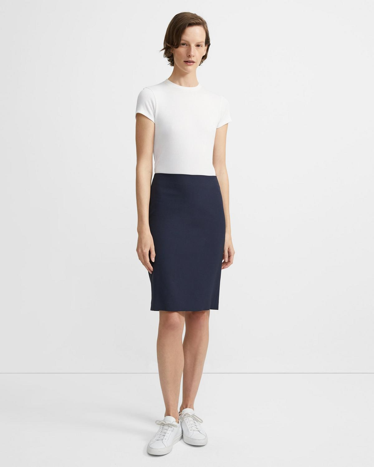 ead505603 ... Stretch Wool Pencil Skirt 2 - click to view larger image