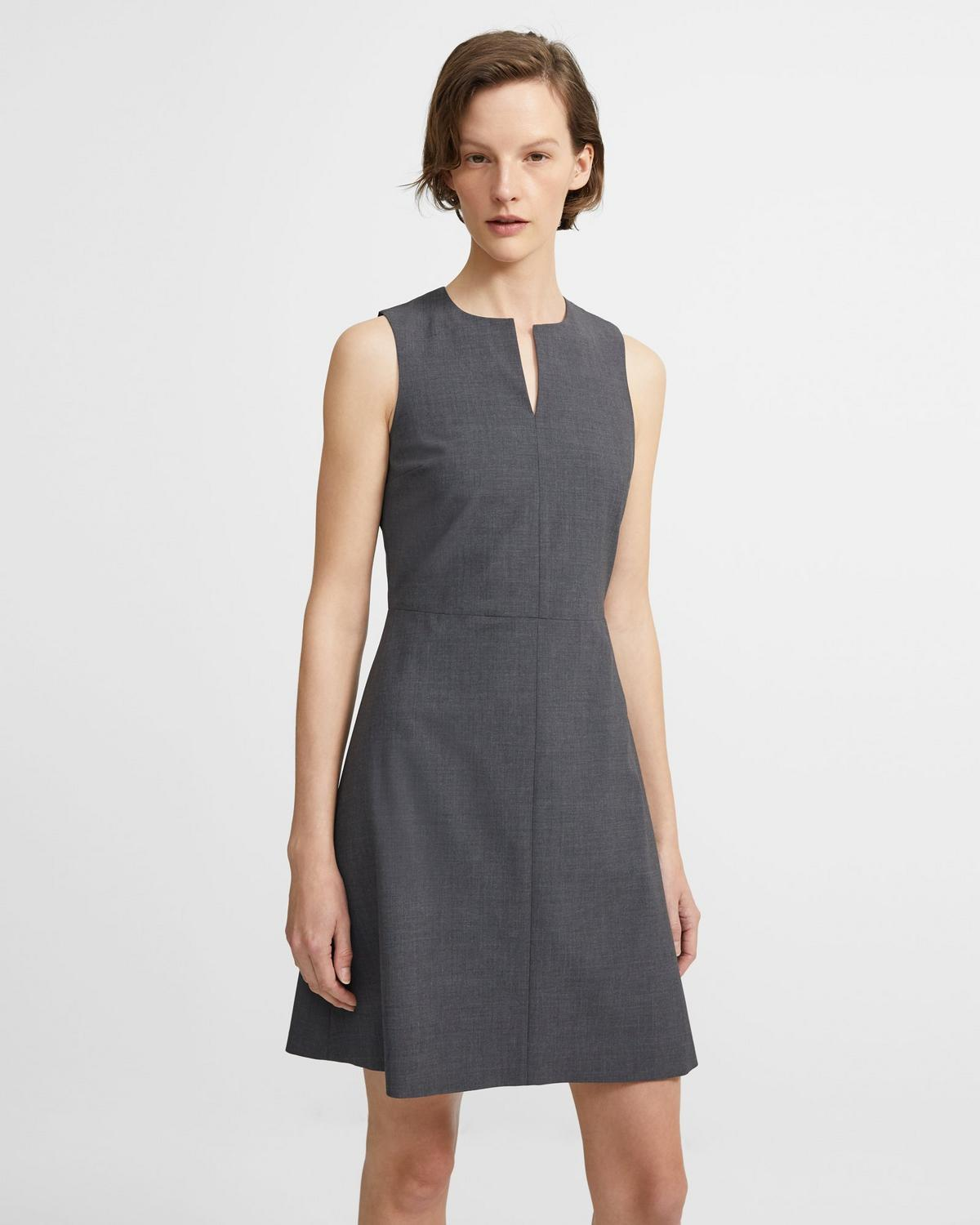 Theory italian stretch wool split front dress theory italian stretch wool split front dress ombrellifo Image collections