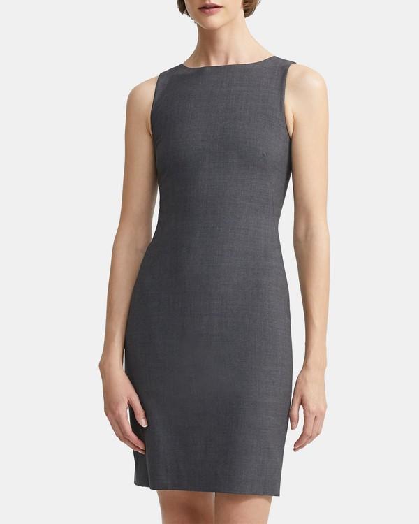 f58f61f79b Stretch Wool Shift Dress