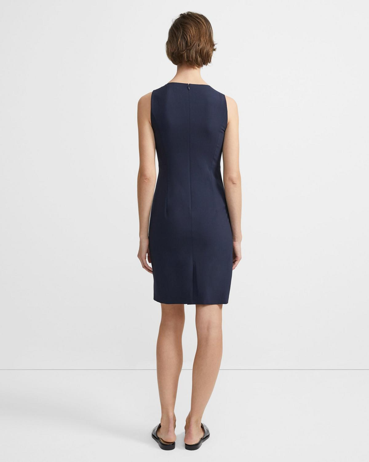 Sheath Dress in Stretch Wool