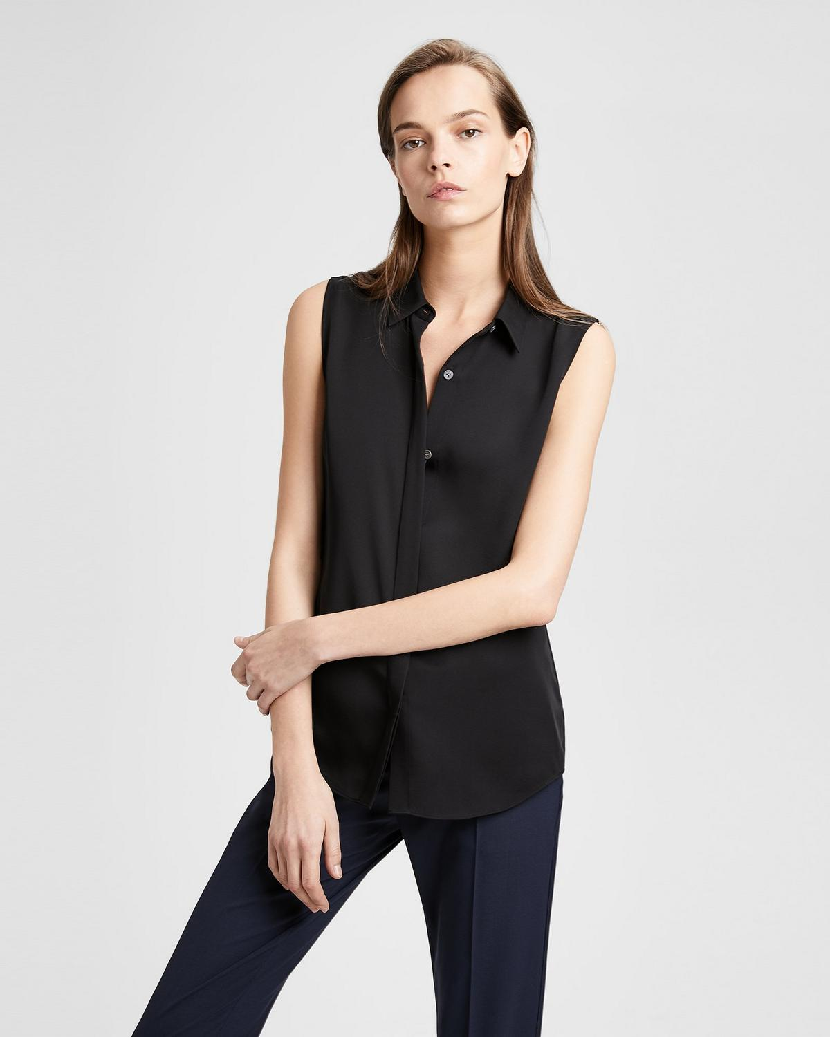 Silk Sleeveless Shirt