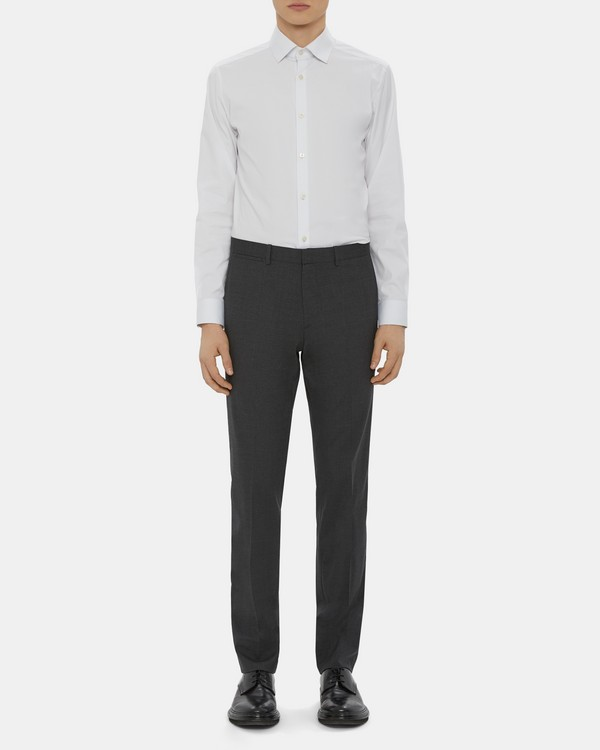 띠어리 맨 바지 Theory Straight-Fit Suit Pant In Fine Wool,CHARCOAL