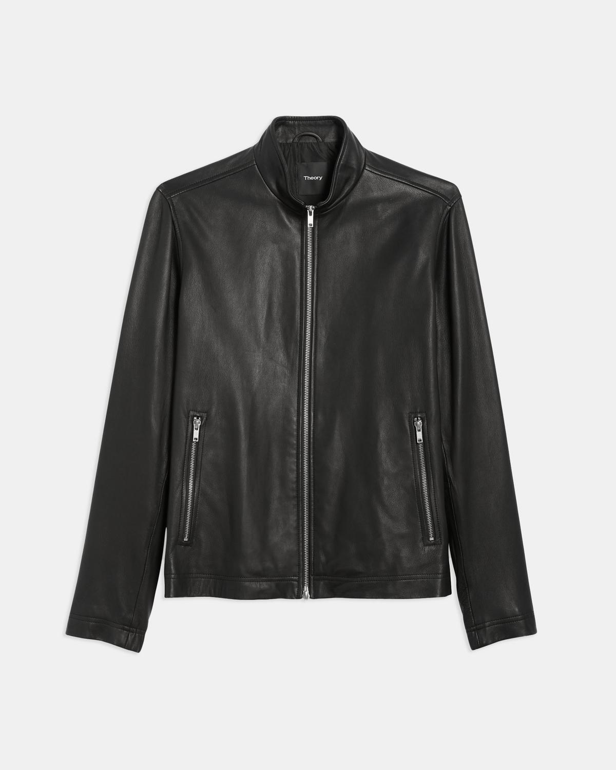 Zip Jacket in Leather