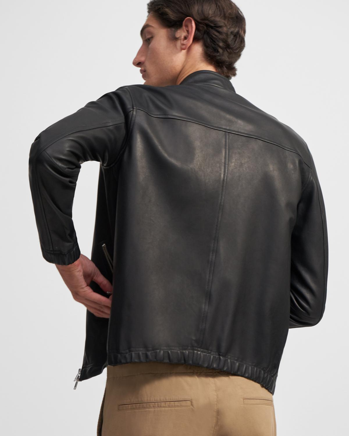 Leather Zip Jacket