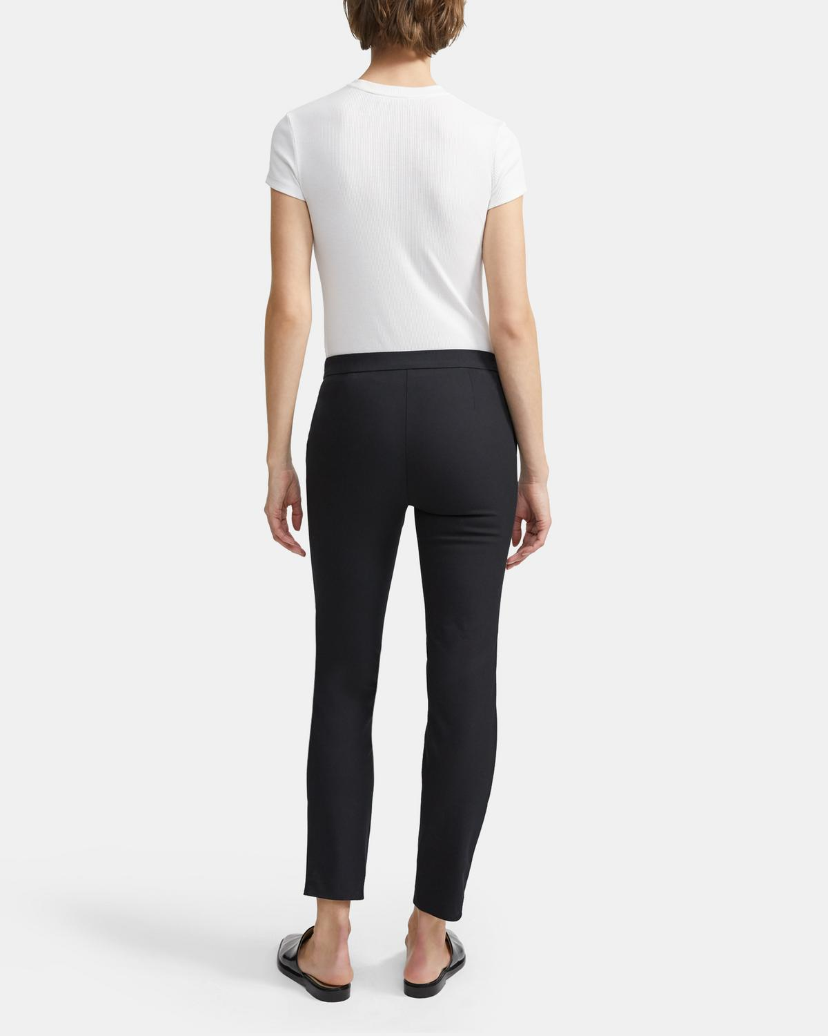 Pull-On Cropped Pant in Stretch Cotton