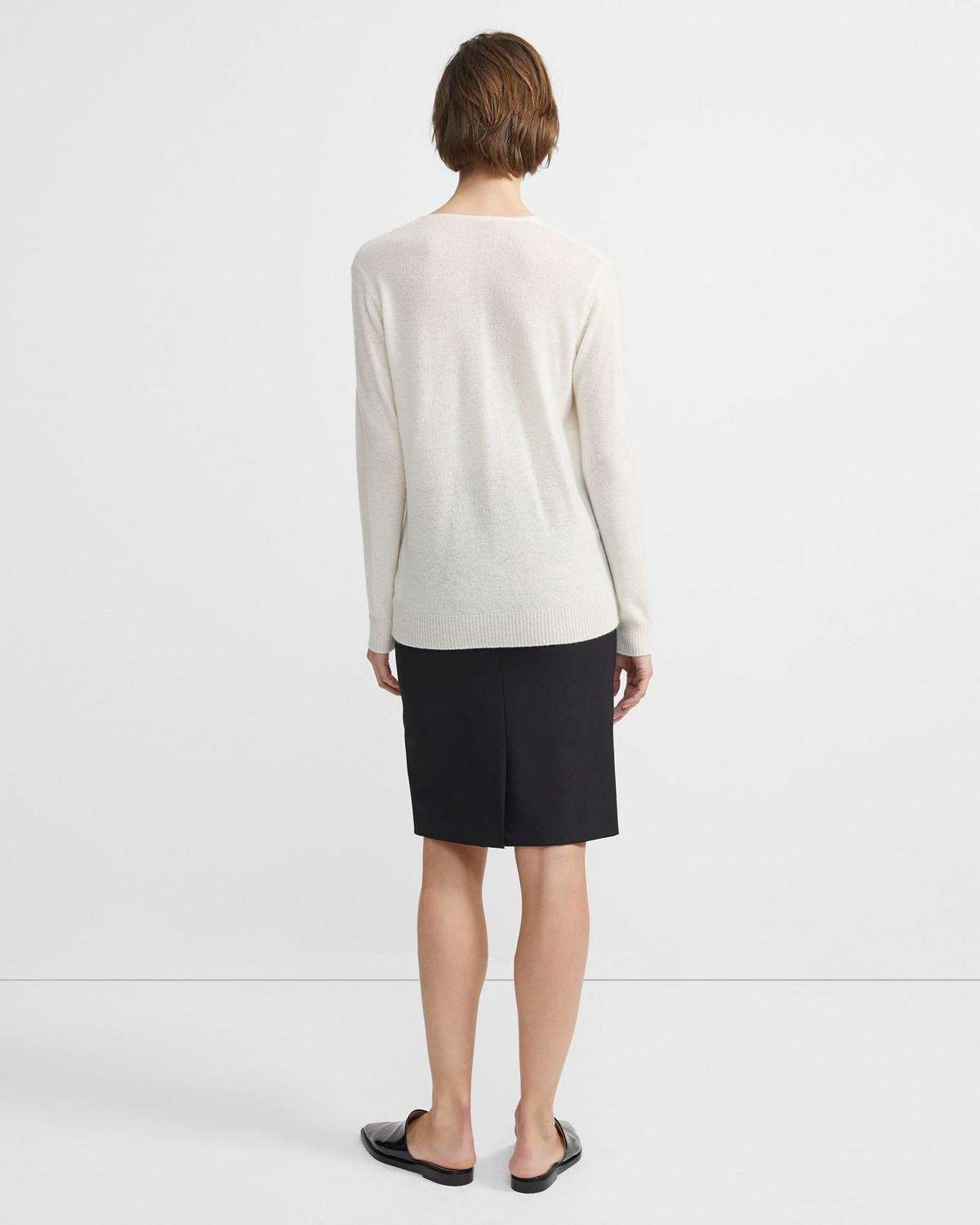 Feather Cashmere V-Neck Knitwear