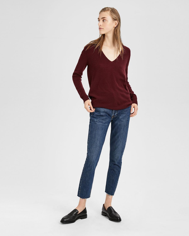 Cashmere V-Neck Sweater   Theory