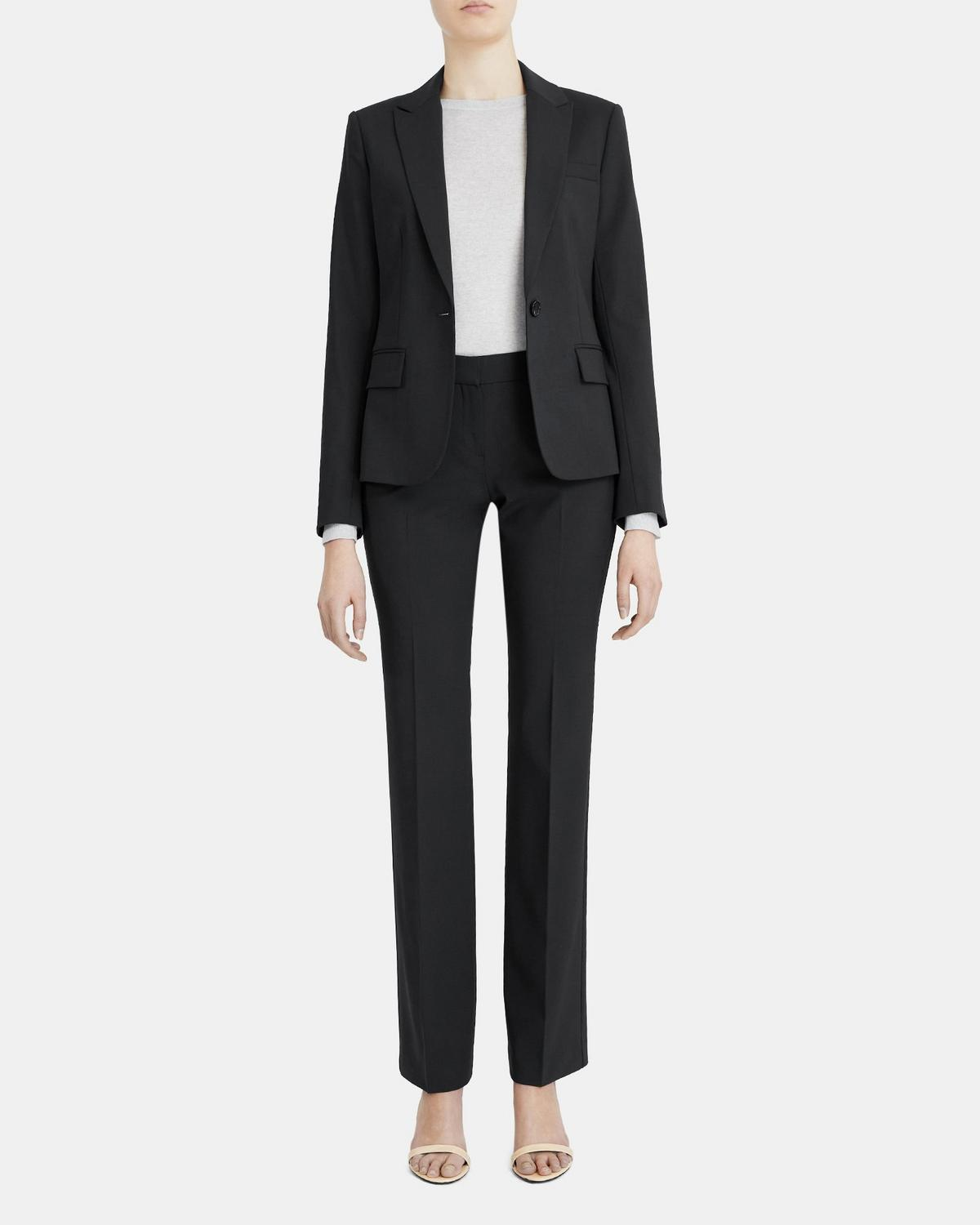 work from home outfit Nordstrom stretch blazer.