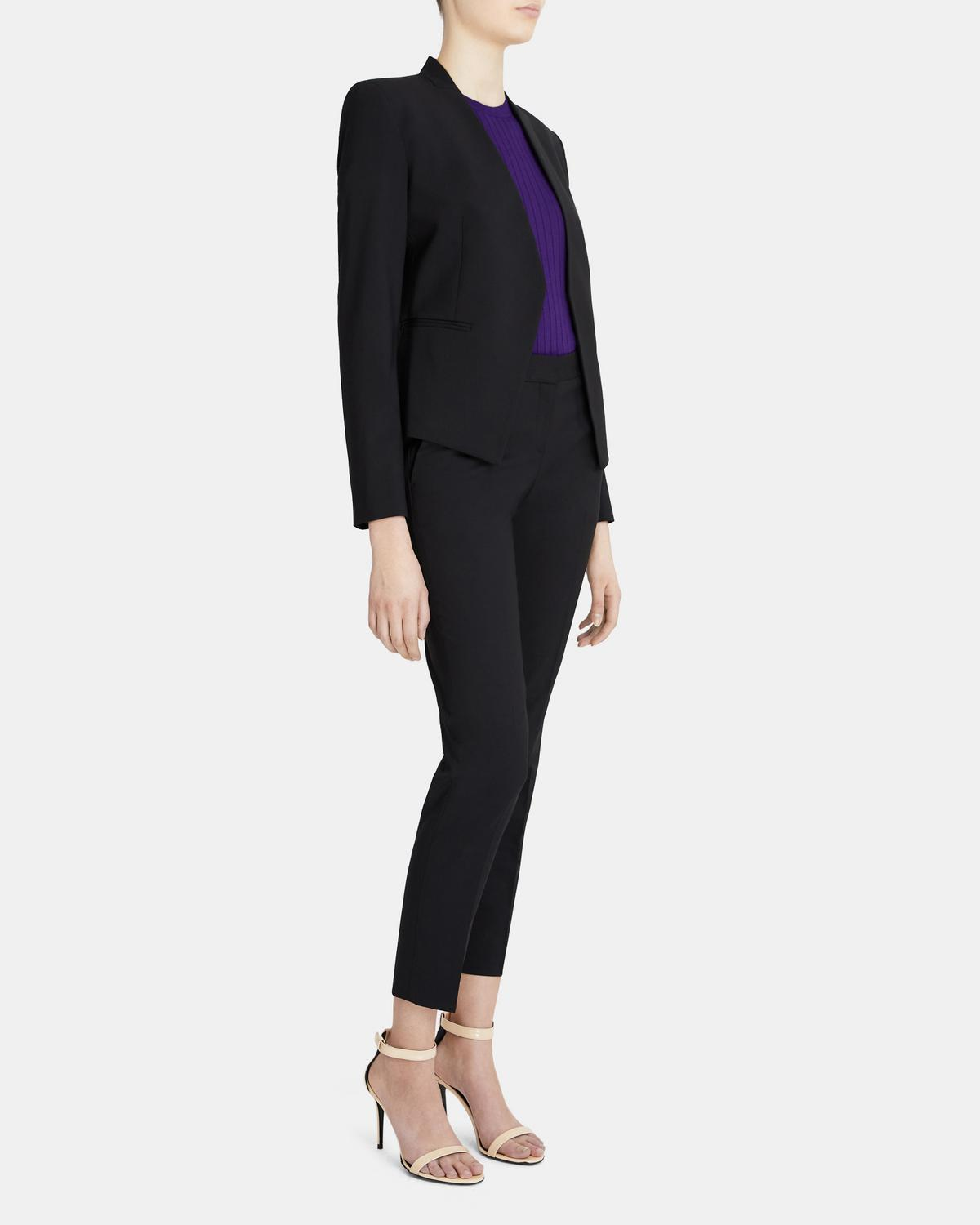 Open Blazer In Stretch Wool