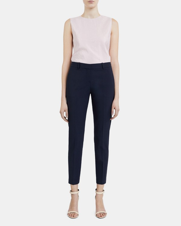 Classic Crop Pant In Stretch Wool