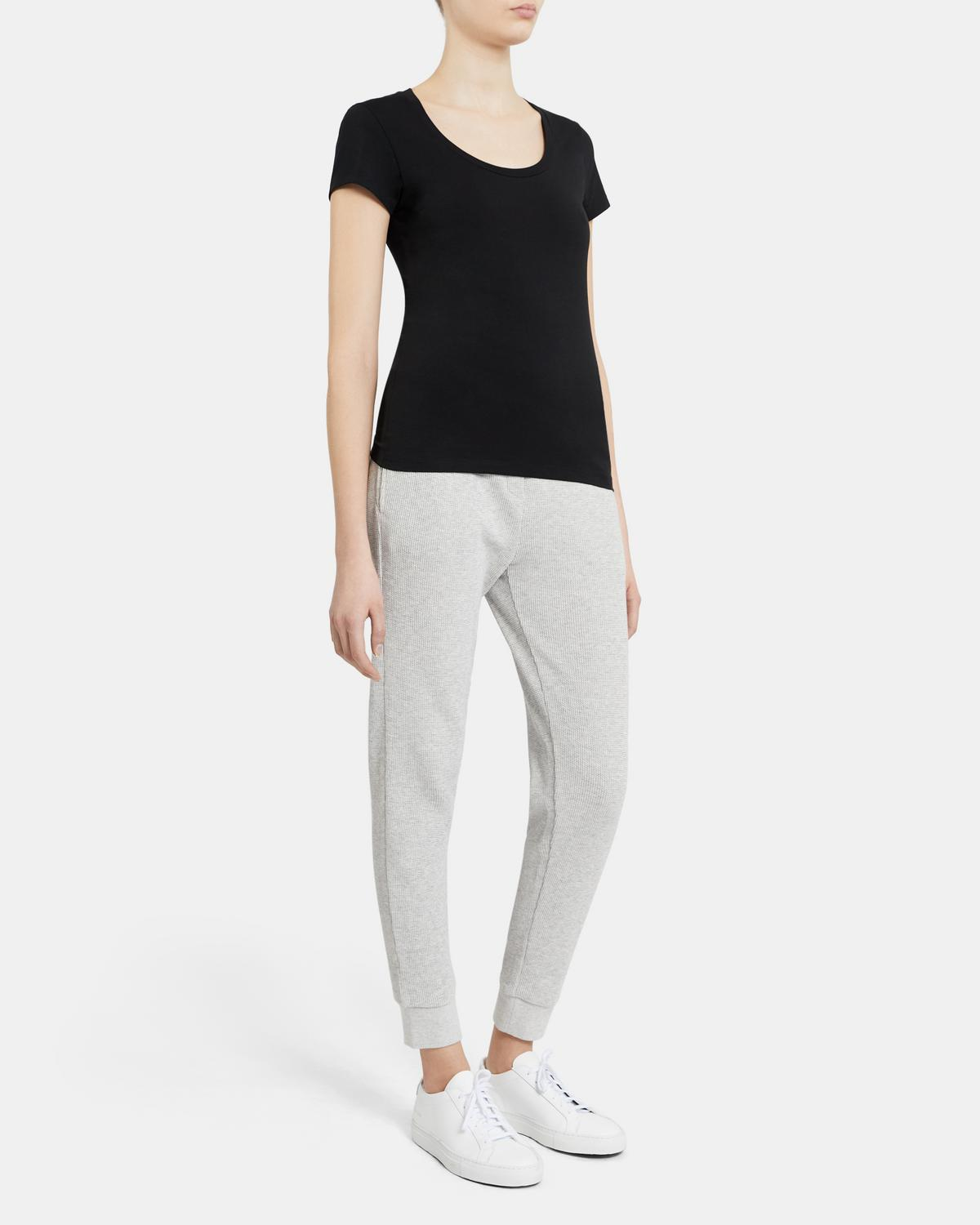 Juin Short-Sleeve Tee In Stretch Cotton