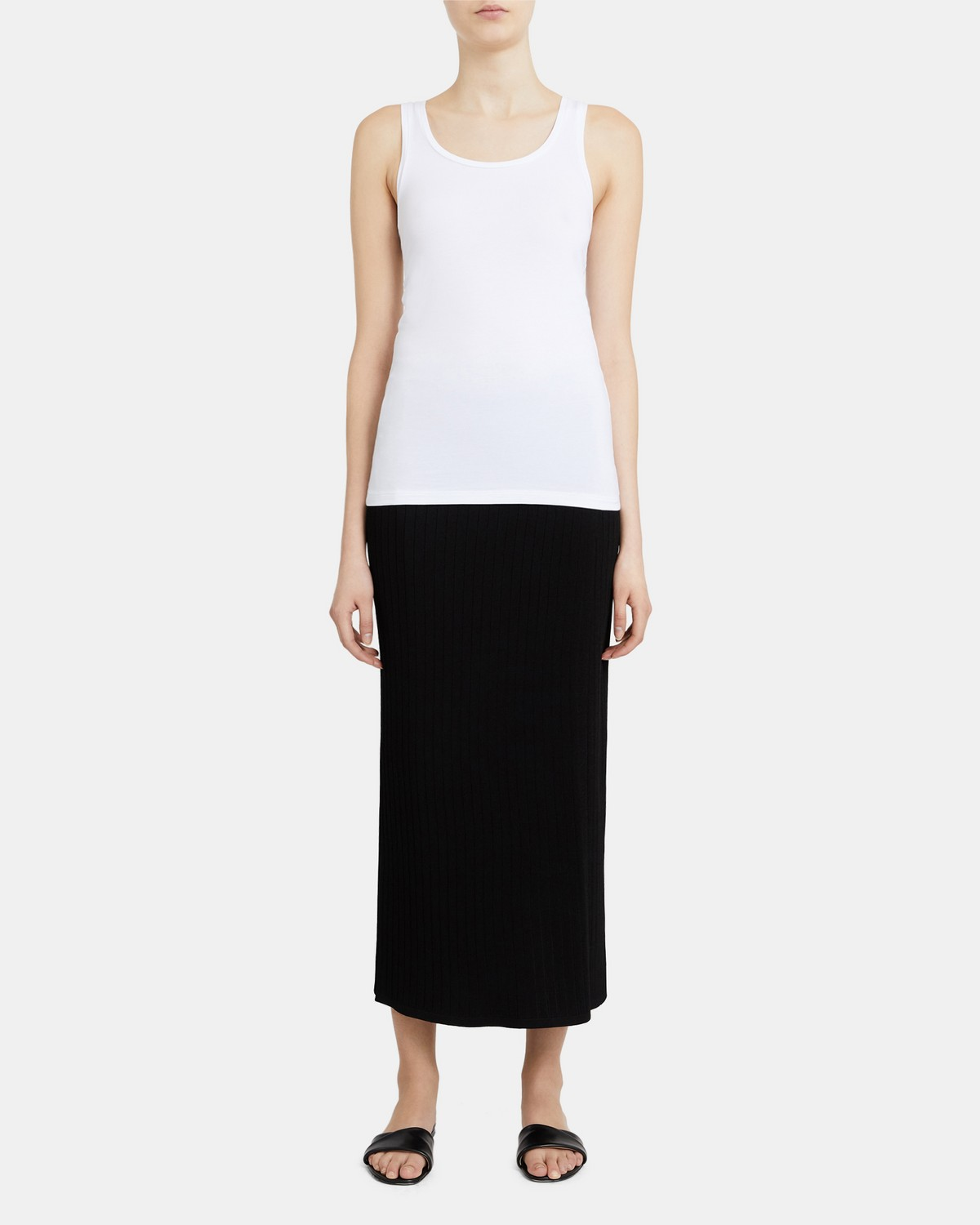 Bram Scoop-Neck Tank in Stretch Cotton