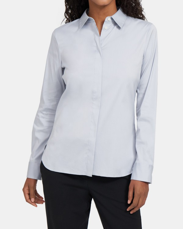 Stretch Cotton Slim Shirt