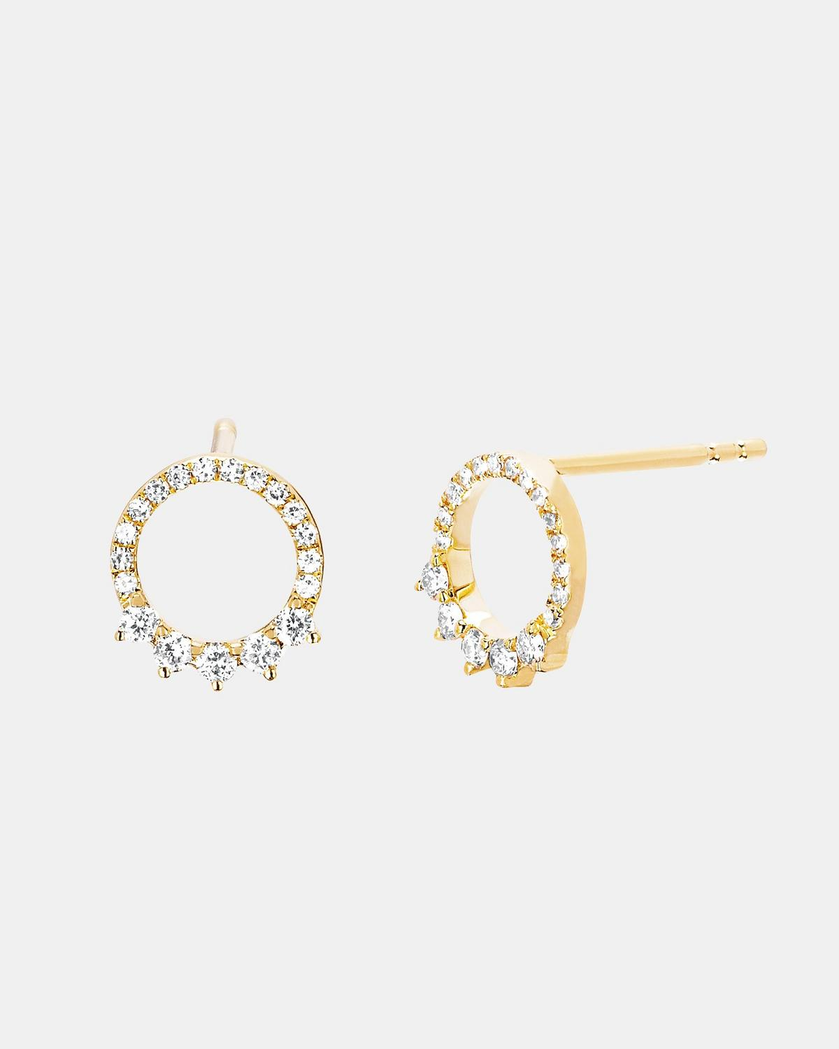 EF Collection Floating Open Circle Stud Earring