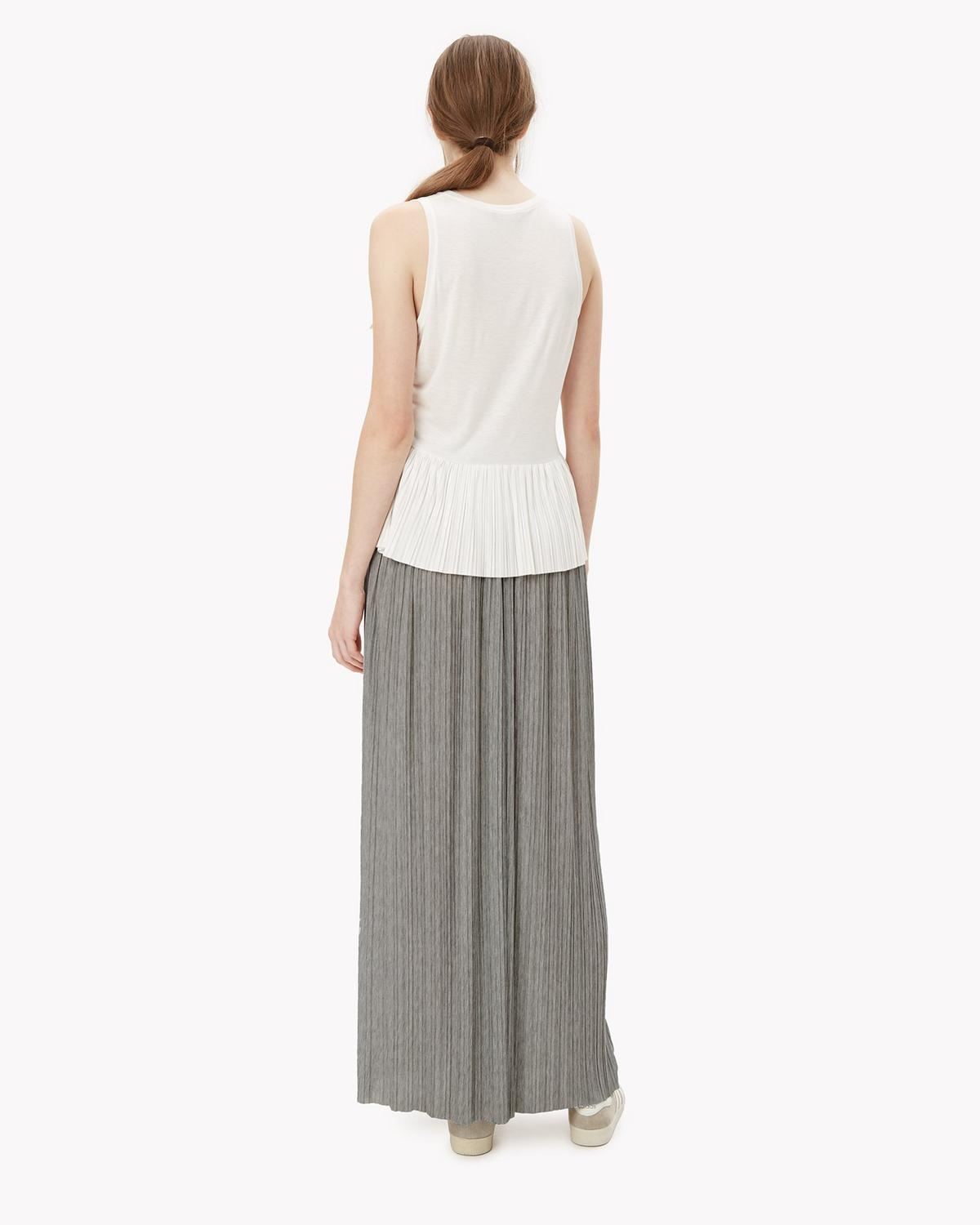 theory knit pleated skirt theory