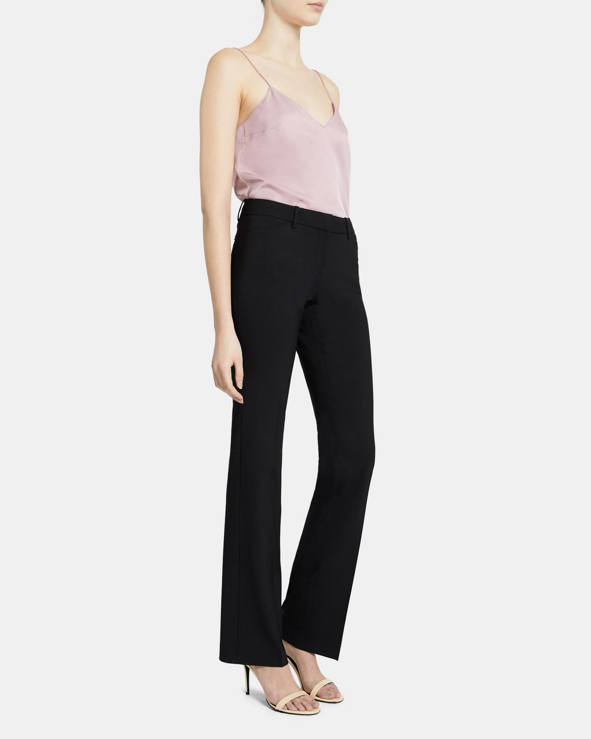 Relaxed Straight Pant In Stretch Wool