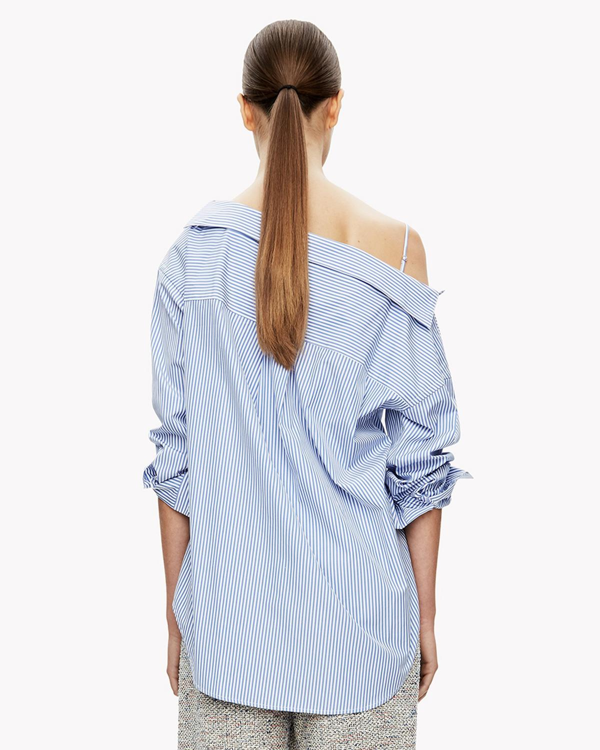 Off-the-Shoulder Button Front Shirt Theory