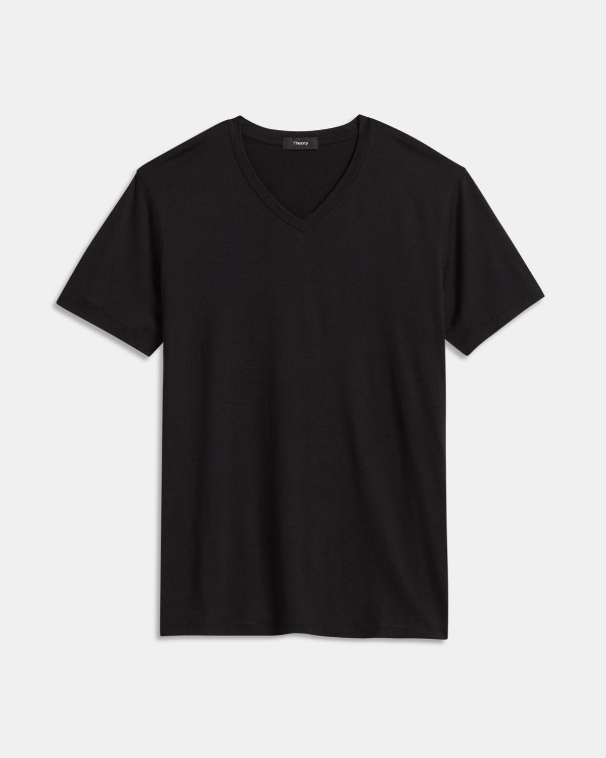 V-Neck Tee in Silk-Cotton