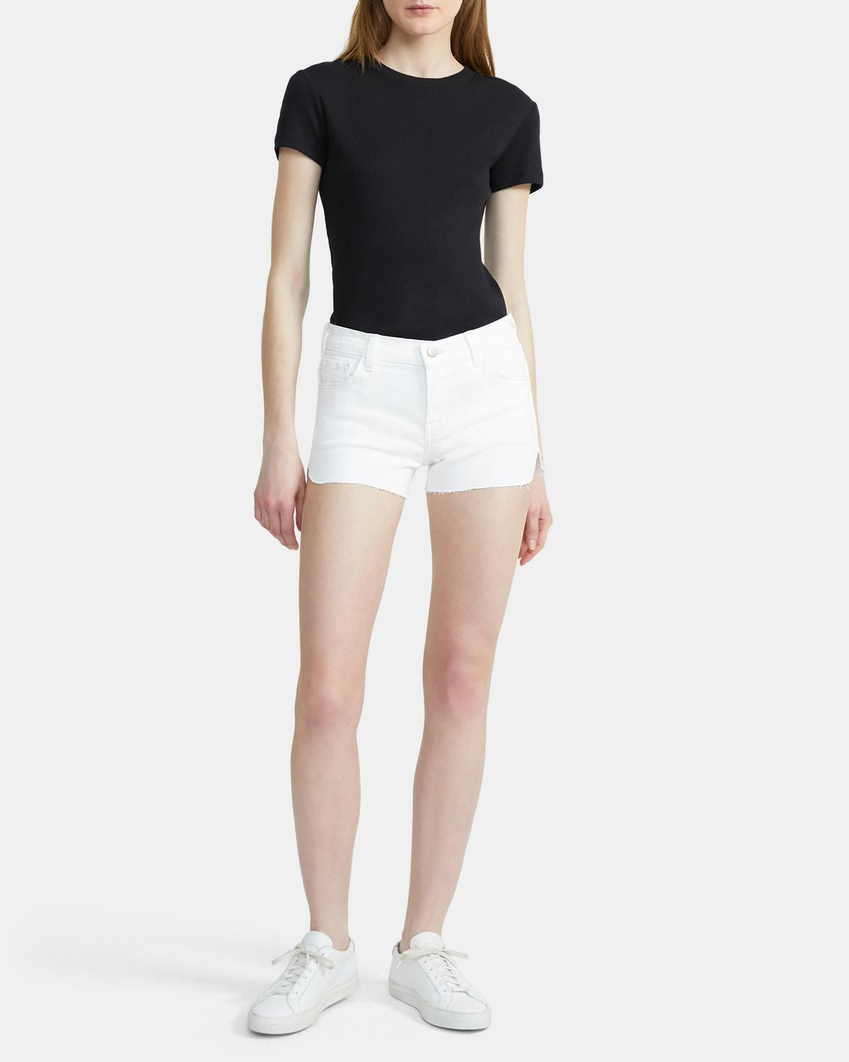 J Brand 1044 Mid-Rise Shorts 0 - click to view larger image