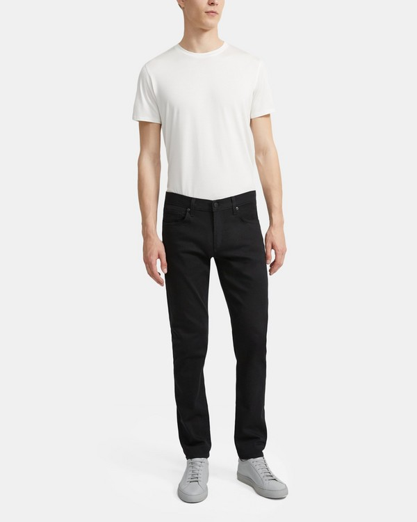 J Brand Tyler Straight Fit Jean in Seriously Black