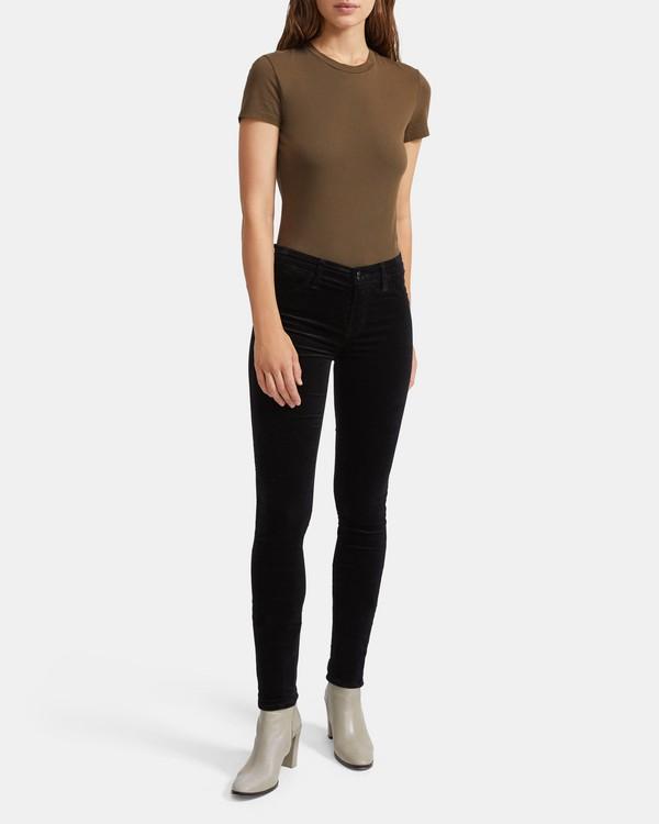 띠어리 수퍼 스키니 진 Theory J Brand 815 Mid Rise Super Skinny Jean,BLACK