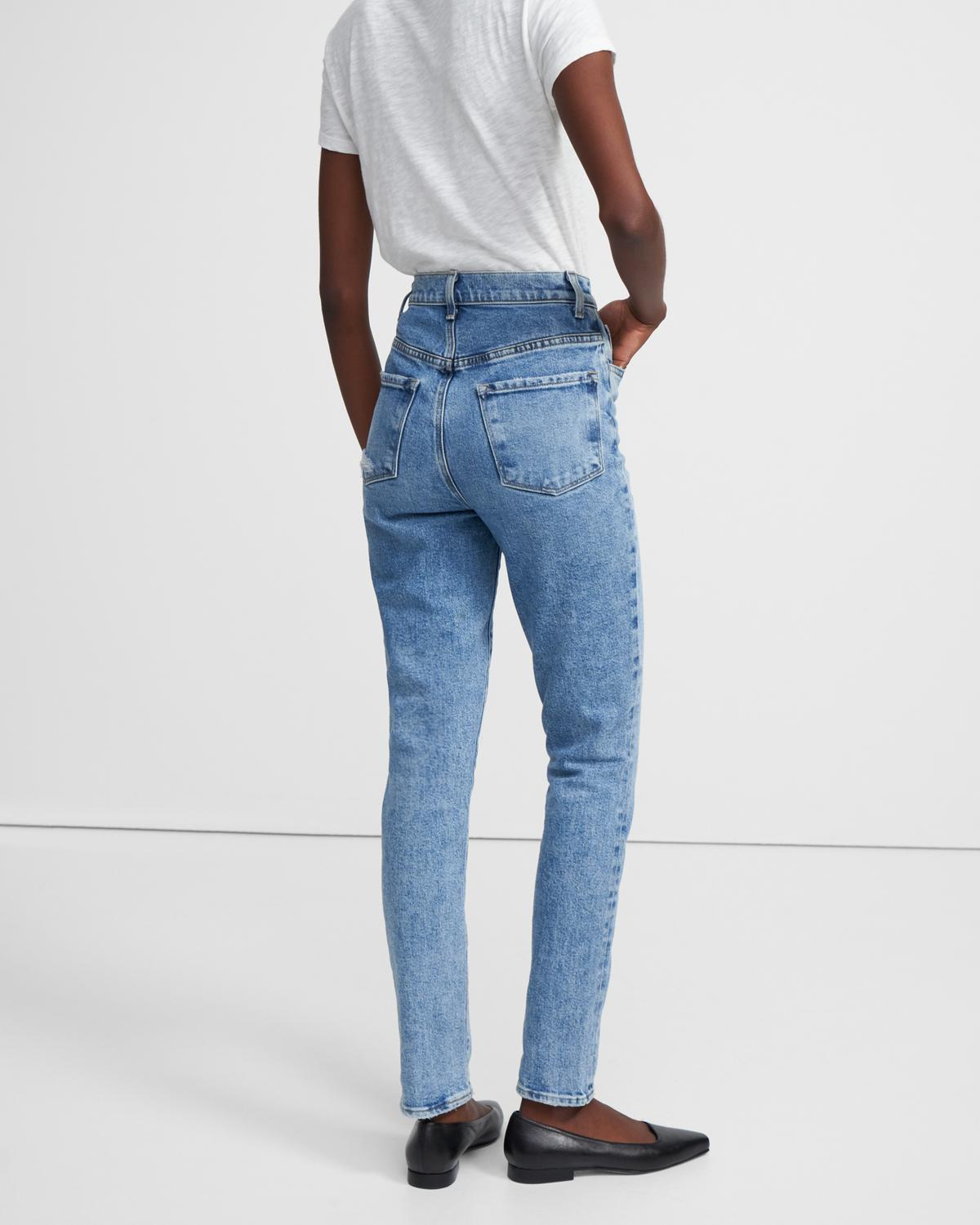 J Brand 1212 Runway High-Rise Slim Straight Jean in Comfort Stretch
