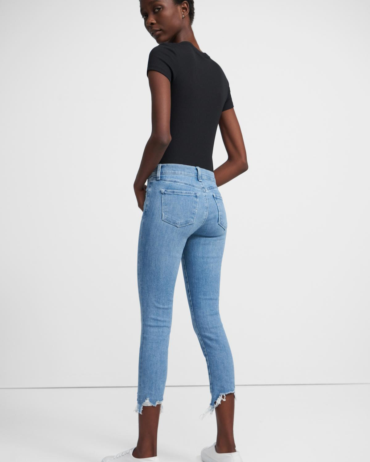 J Brand 835 Mid-Rise Cropped Skinny Jean in Comfort Stretch