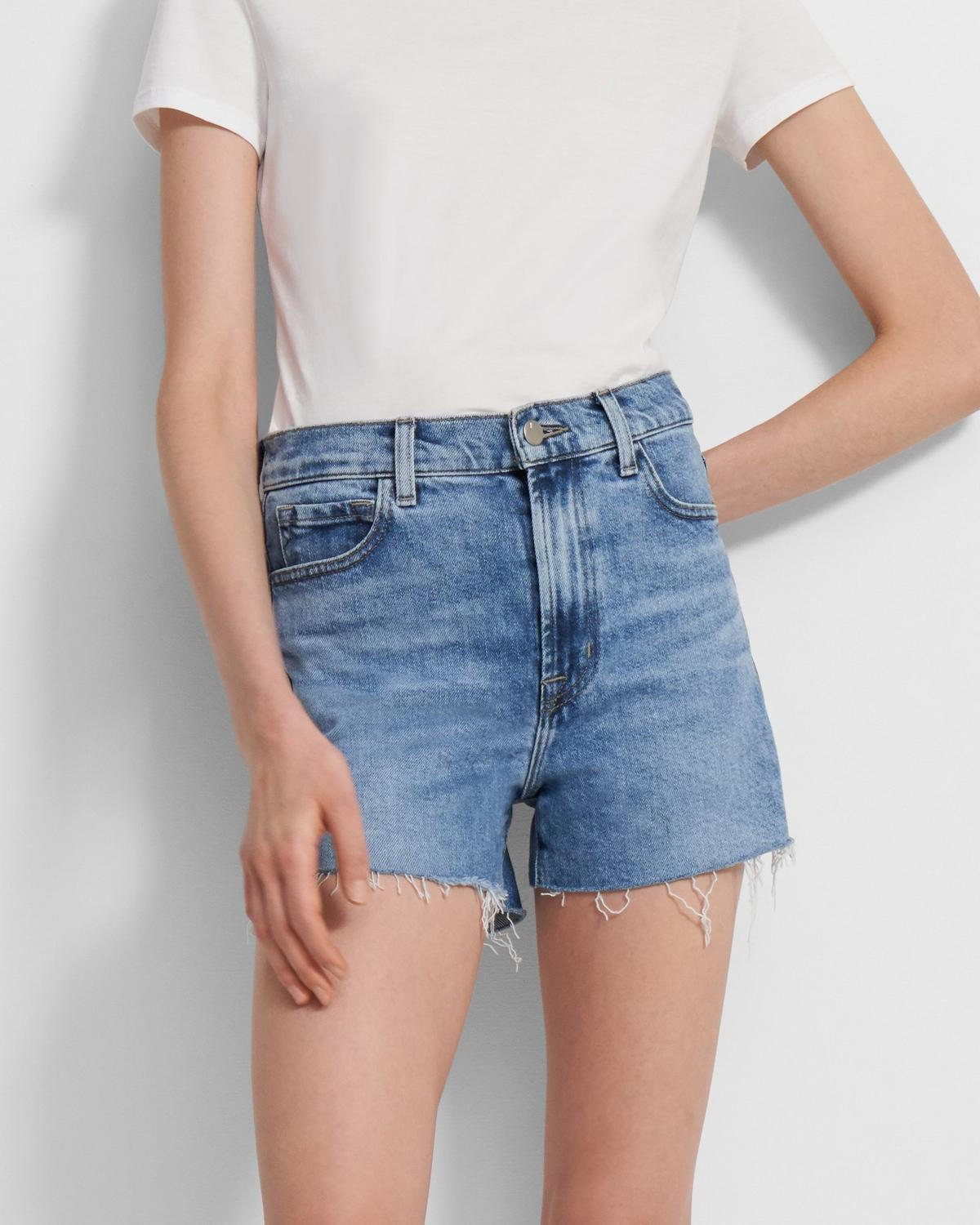 J Brand Jules High-Rise Jean Short in Comfort Stretch