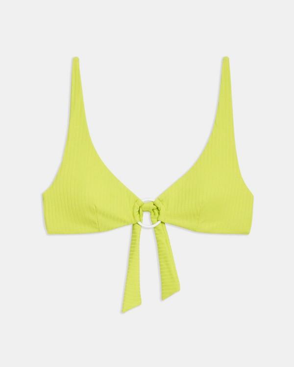 Onia x 띠어리 Theory Jade Bikini Top,BRIGHT LIME