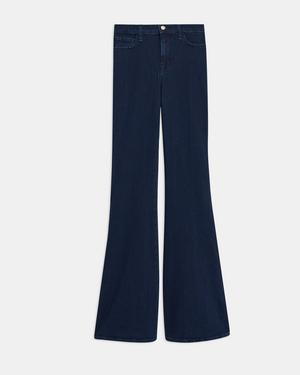 J Brand Valentina High-Rise Flared Jean in Stretch Denim
