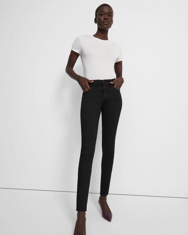 띠어리 Theory J Brand Sophia Mid-Rise Super Skinny Jean in Stretch Denim,SHADOW