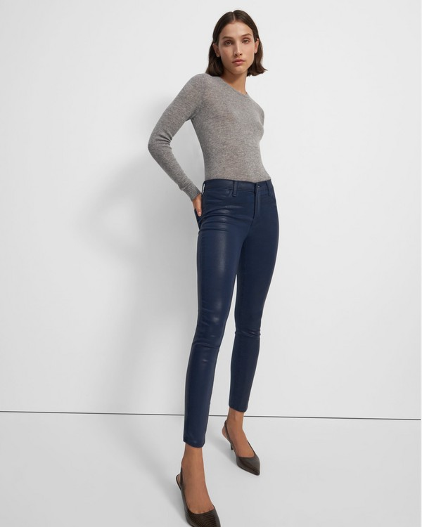 띠어리 Theory J Brand Alana High Rise Cropped Skinny Jean in Denim,STELLAR NAVY