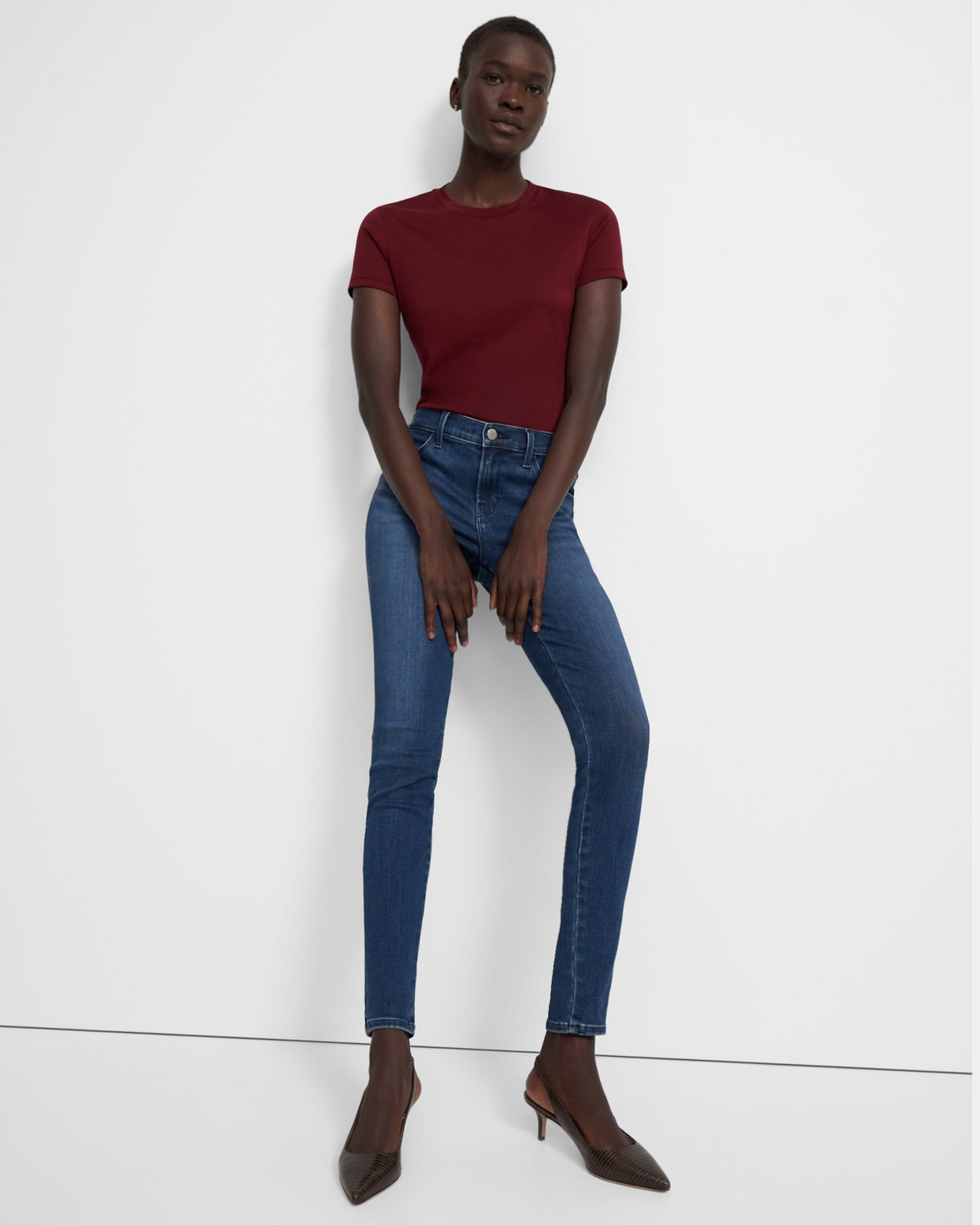 J Brand Sophia Mid-Rise Super Skinny Jean in Limitless Stretch Denim