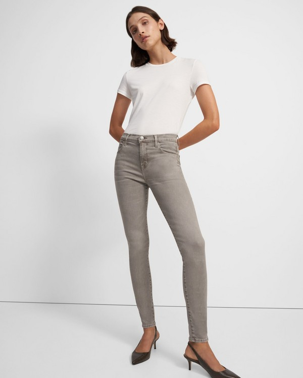 띠어리 Theory J Brand Maria High-Rise Skinny Jean in Stretch Denim,LIGHT STORM