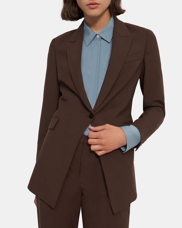 띠어리 Theory Etiennette Blazer in Good Wool,WALNUT