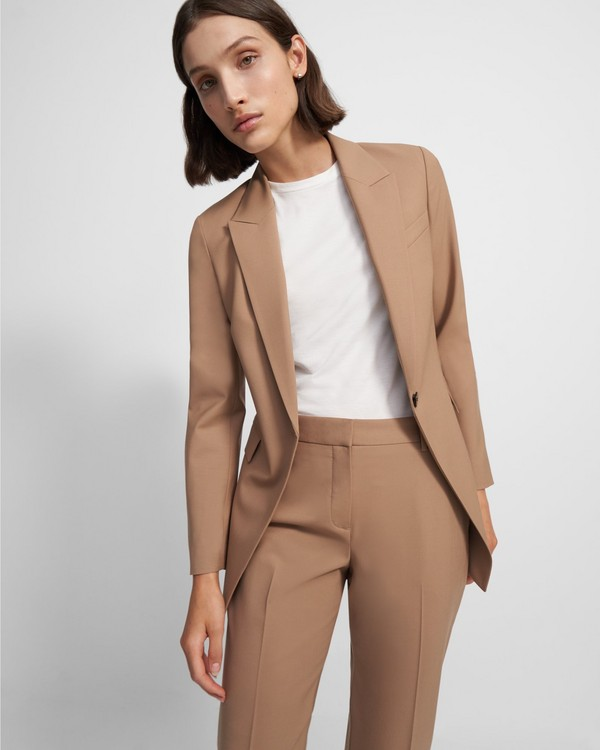 띠어리 Theory Etiennette Blazer in Good Wool,CAMEL