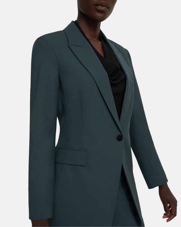 띠어리 Theory Etiennette Blazer in Good Wool,EVERGREEN