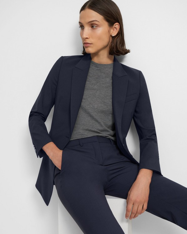 띠어리 Theory Etiennette Blazer in Good Wool,NOCTURNE NAVY