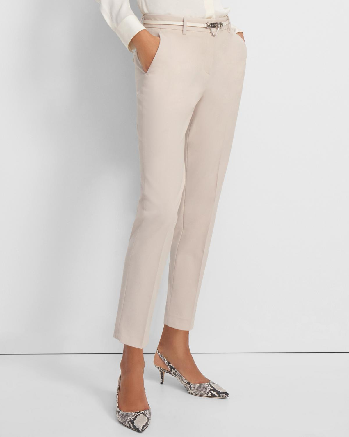 Good Wool Slim Crop Trouser