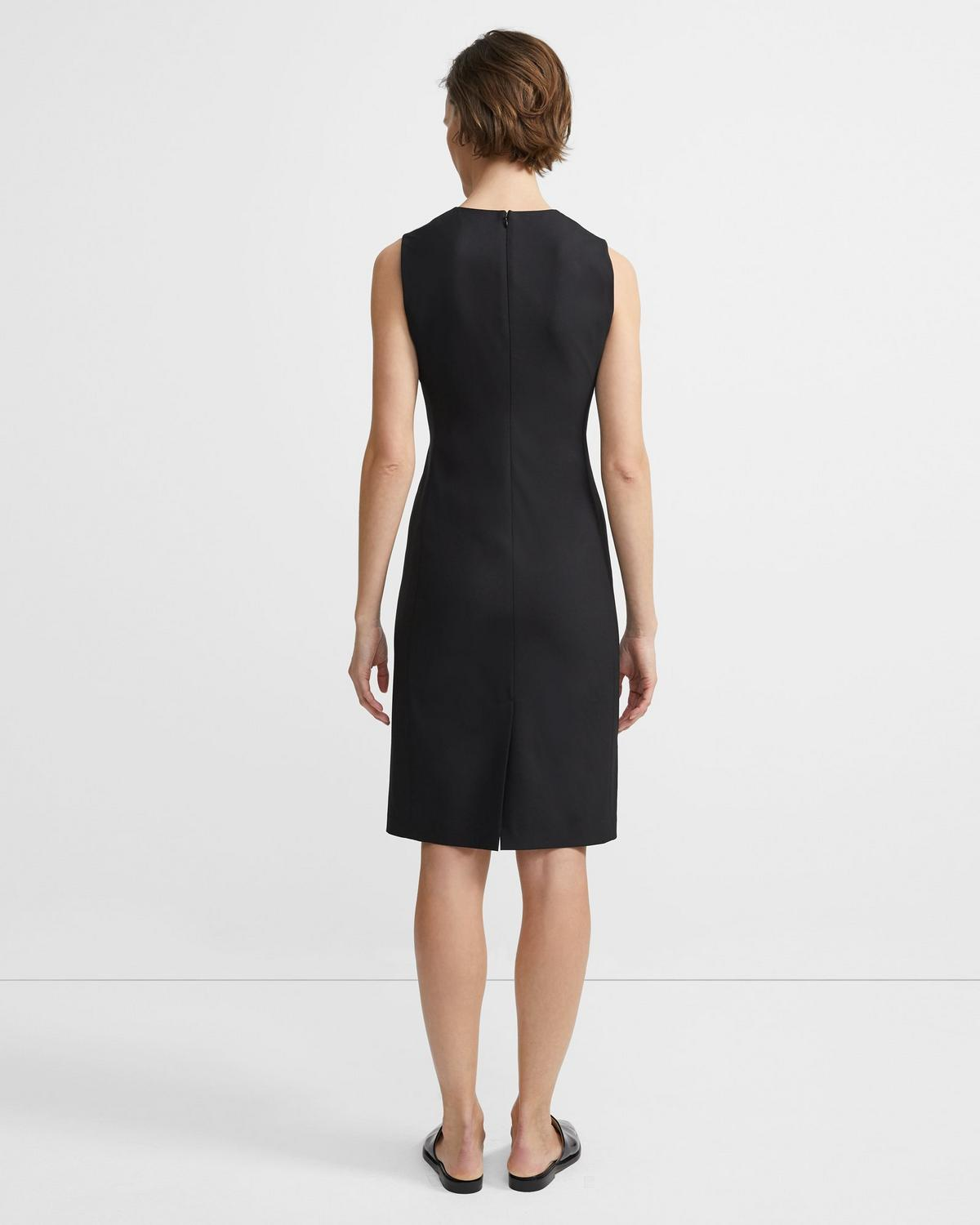 Stretch Wool Classic Dress