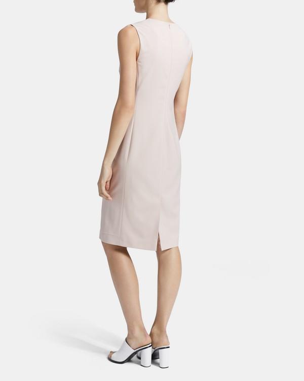 띠어리 시스 원피스 (굿 울) Theory Sheath Dress in Good Wool,PETAL PINK