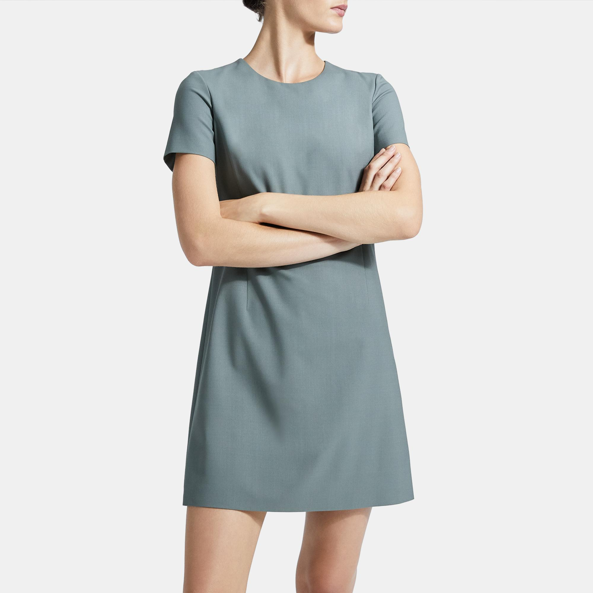 Theory GOOD WOOL SHIFT DRESS